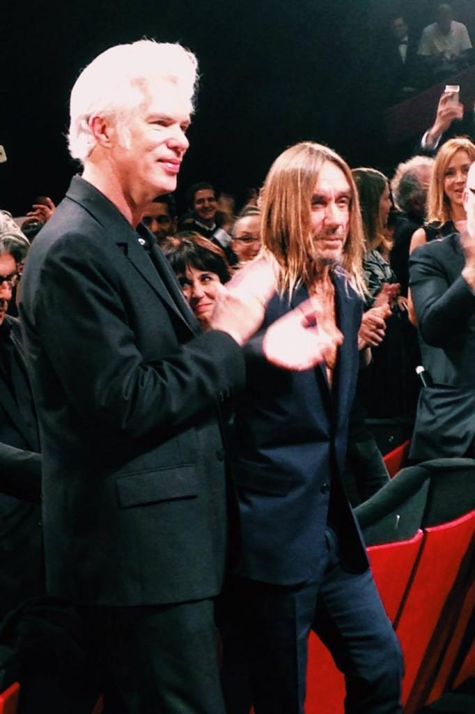 Standing ovation d'au moins 15 minutes pour Iggy Pop et Jim Jarmusch à l'issue de la projection