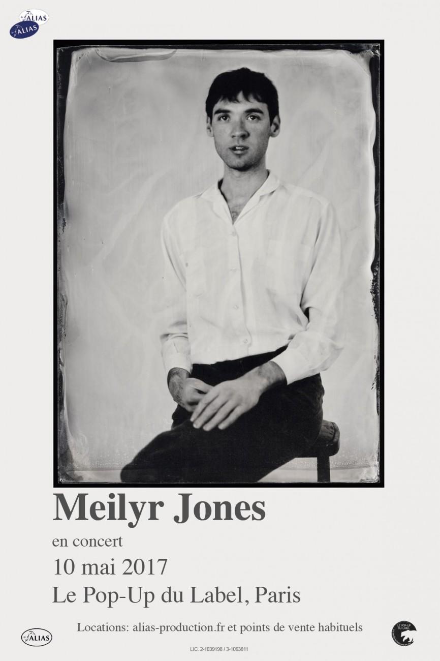 Meilyr Jones en concert au Pop-Up du Label à Paris le 10/05 - affiche
