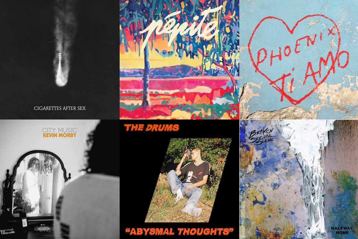 Sélection des meilleurs morceaux de juin 2017 par Indeflagration : Kevin Morby, The Drums, Saskwatch, Broken Social Scene, Phoenix, Pépite, Cigarettes After Sex etc.