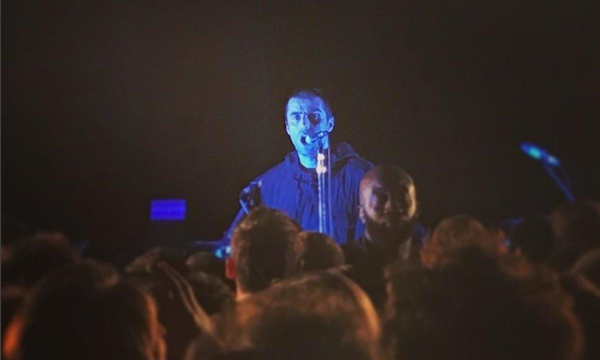 Liam Gallagher en concert privé au 118 de Warner Music à Paris en septembre 2017