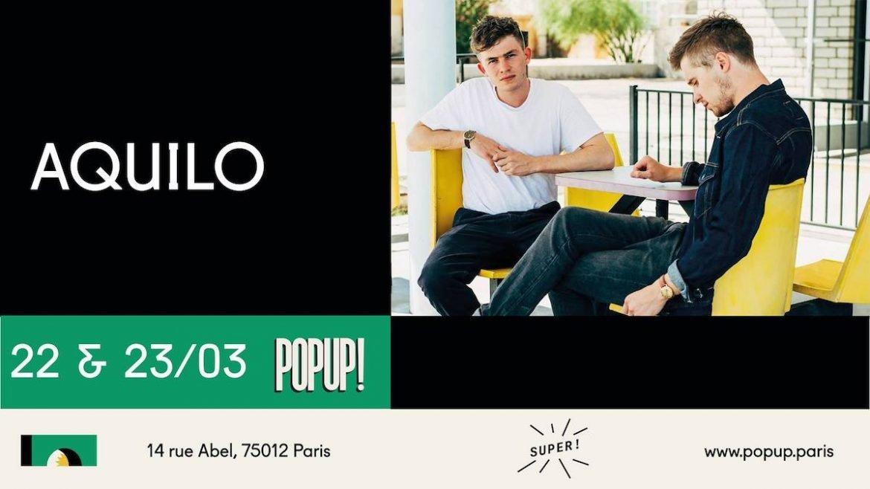 Aquilo en concert au Pop-Up à Paris le 23 mars 2018